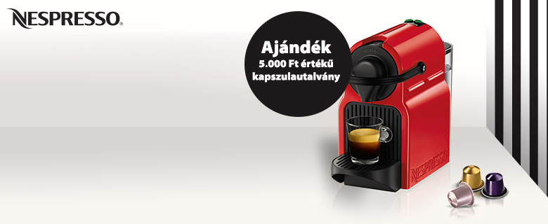 5.000 Ft értékű Nespresso utalvány*