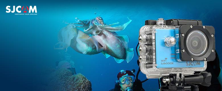 SJCAM SJ 5000X Elite sportkamera vízálló tokkal, 5 színben