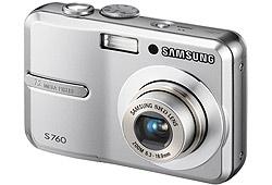 Samsung S760 digitális fényképezőgép, ezüst